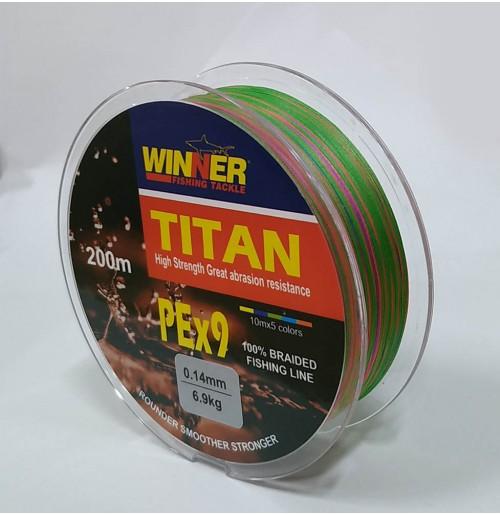 DYNEEMA TITAN 200m 9PE MULTICOLOR WINNER
