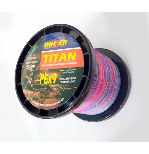 DYNEEMA TITAN 0.35mm 600m 9PE MULTICOLOR WINNER